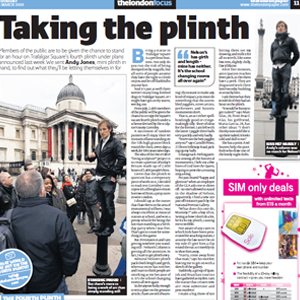 thelondonpaper – 'Day on the Plinth'